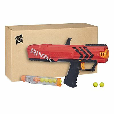 Blaster Toy Gun Nerf Rival Apollo XV-700 Spring Action 7 High Impact Rounds red