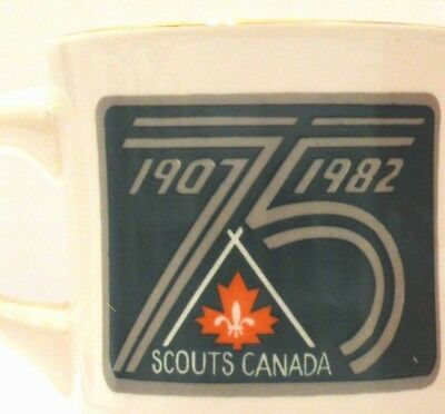 SCOUTS CANADA 75TH ANNIVERSARY MUG BLUE SRINGS GILWELL REUNION 1982 Creemore