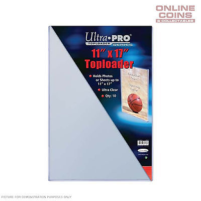 """Ultra Pro Specialty Series Toploader 11"""" x 17"""" Comic Magazine Documents - Pkt 10"""