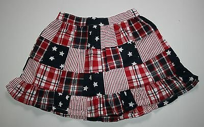 New Gymboree Stars & Stripes Patchwork Pull On Skirt Size 4T NWT 4th of July