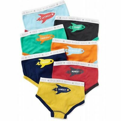 New Old Navy Boys 7 Pack Pairs Underwear Rocket Ships 2T 3T Briefs NWT