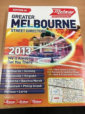 Melway 2013 Melbourne Street Directory . Perfect condition