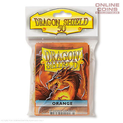 DRAGON SHIELD - Classic Standard Card Sleeves ORANGE Pack of 50 #AT-10113