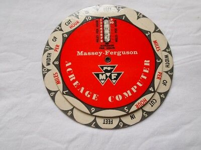 "Vintage Massey-Ferguson ""Acreage Computer"" Advertising Collectable"