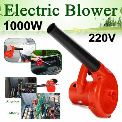 220V 1000W Electric Hand Operated Air Blower Computer Vacuum Dust Cleaner New