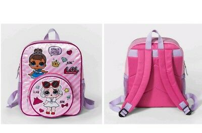 LOL SURPRISE! DOLL PINK BACKPACK Bag Bling Glitter Miss Baby Dolls NEW