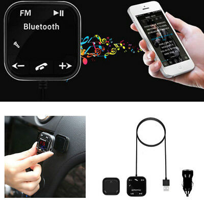 Magnet Car Kit Wireless Bluetooth SD FM Transmitter AUX LCD Handsfree MP3 USB RM