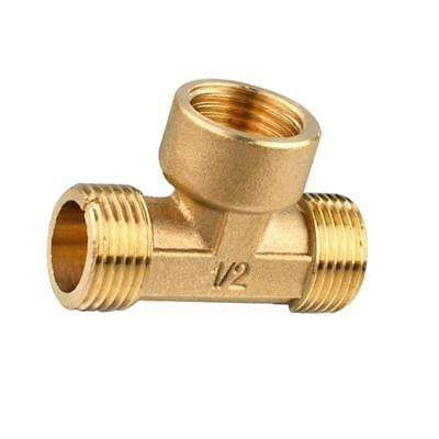 "1/2"" Brass Tee Fitting -- Male Female Male- Thickened Type"