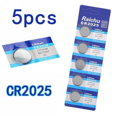 5pcs/Pack CR2025 3V Volt Button Cell Coin Battery for Watch Remote Toys Camera