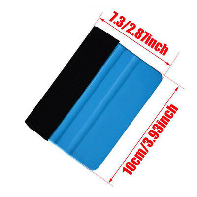 For 3M Pro Felt Edge Vinyl Car Van Bike Wrap Wrapping Squeegee Tool Scraper Blue
