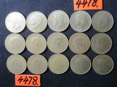 15 x  coins from  Spain      58  gms      Mar4478