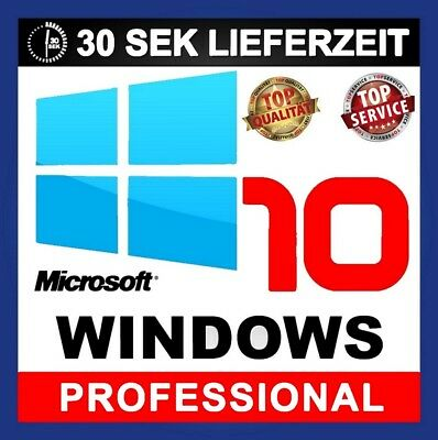 Windows 10 Professional Pro | Win KEY Lizenz | DEUTSCH VOLLVERSION