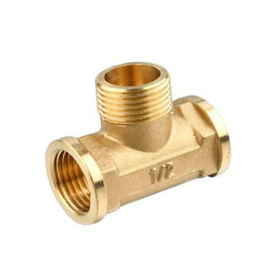 "1/2"" Brass Tee Fitting --- Female Male Female - Thickened Type"