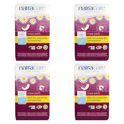 4X Natracare Organic & Natural Maxi Pads Perfume Free Daily Women's Protection