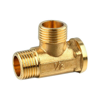 "1/2"" Copper Brass Tee Fitting Tube Connector T-Junction Male and Female"