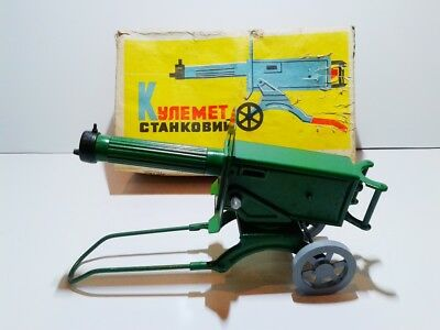 CCCP USSR RARE Maxim МАКСИМ machine gun tin plate clockwork MIB OVP 1980's