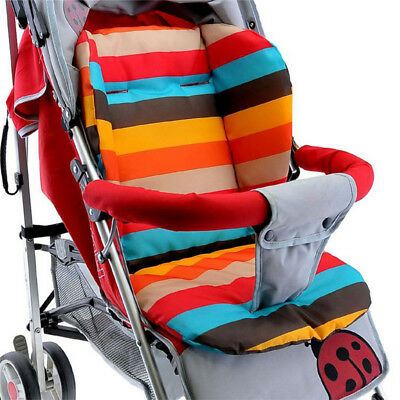 Baby Infant Stroller Seat Pushchair Cushion Cotton Mat Rainbow Color Soft Thick