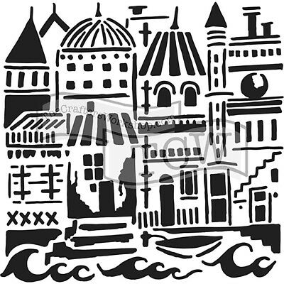 TCW - Stencil 6in. x 6in. - Floating City