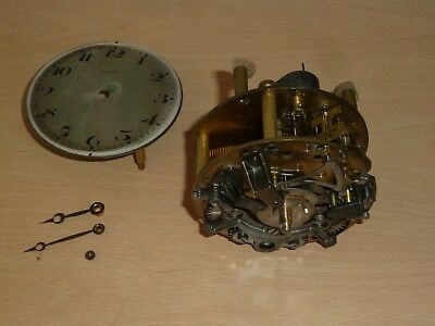 Vintage Zenith Swiss striking drum clock movement for spares