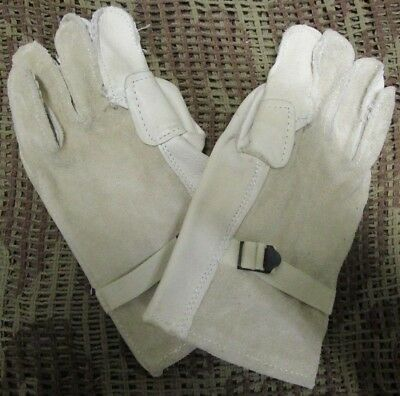 New Genuine Us Army Heavy Duty Cattle Hide Leather Work/fast Roping Gloves. M.