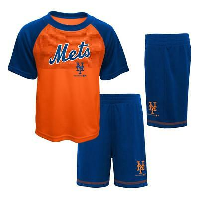 NEW Boys NY New York Mets Shorts T- Shirt Set Outfit, Sz. 2T, 3T, 4T.  Free Ship