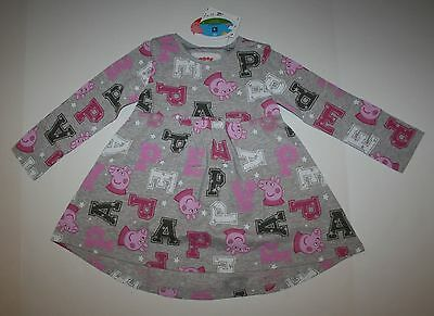New NEXT UK Boutique Peppa Pig Tunic Swing Top 18m 2T 92cm NWT Gray Print