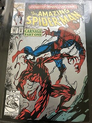 Amazing Spider-Man # 361 Silver Variant Cover Carnage Part One