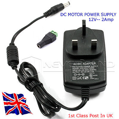 12v DC Motor Power supply - Supply up to 2 Amps at 12 Volts from Mains - in UK