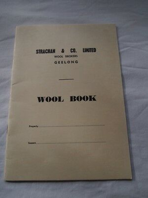 Vintage Strachan & Co Ltd Wool & Tally Books