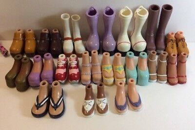 Lot Of 18 Pair Bratz Doll Shoes And 1 Outfit