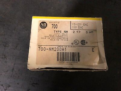 Allen Bradley 700 NM200A1 Ser E Latch Relay