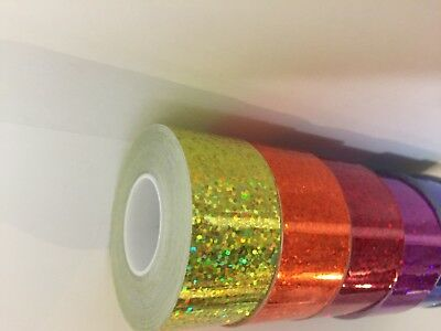 Box of Off-Cut  38 Tapes, decorative tapes, holographics, glitter, chromes