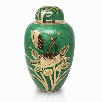 Urn for Ashes, Brass Adult Cremation Memorial Funeral Large Ash Container