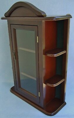 Small Wooden Display Cabinet With Glass Door U0026 Shelves, Please See  Measurements