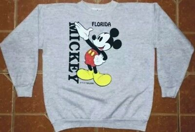 True Vintage 70s Disney Mickey Mouse Florida Velva Sheen Sweatshirt Unisex XL