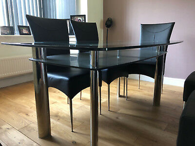Harveys Metal And Glass Boat Dining Table