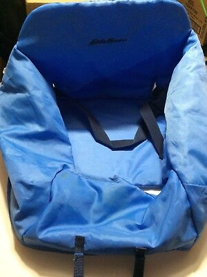 Eddie Bauer Travel High Chair Cover Shopping Cart Safety Belt Blue Compact