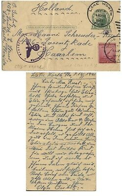 Judaica PC Florida to Jew in the Netherlands, Censored, 1941.n40