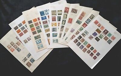 Pile of Pages of Portuguese Stamps Removed From Old Albums - Portugal