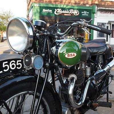 1936 BSA Q21 Blue Star Classic With Buff Book, Correct Numbers, And Nice History