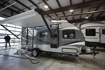 Rv Travel Trailer Camper 2018 Comet Mini 17Uds U-Shaped Dinette Camper Rv