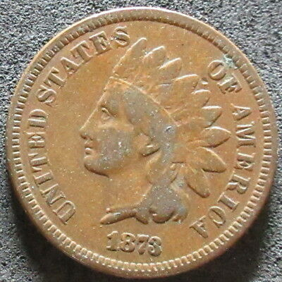 1873 Closed Three Indian Head Cent Coin