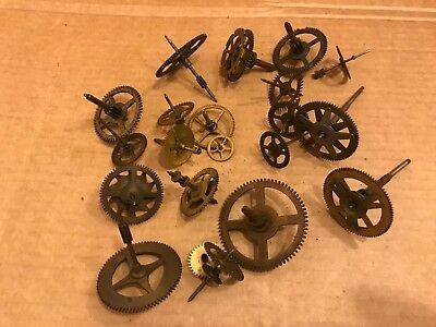 Selection of Vintage Brass Clock Parts, Gear Wheels / Cogs (2)