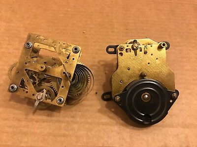 2 x Vintage Mechanism Clock Parts, One Says W590 Made in Germany