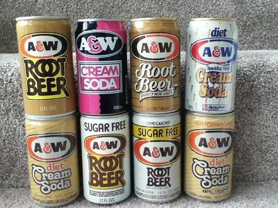 A&W aluminum. ALL 7 showing different styles and/or flavors.