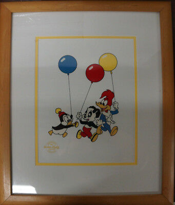 1991 Serigraph Cel By Walter Lantz Woody - Chilly Willy - Andy Panda - Framed