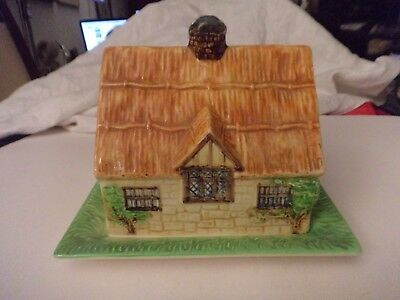 vintage Beswick cottage butter or cheese cover and underplate 251 1930's
