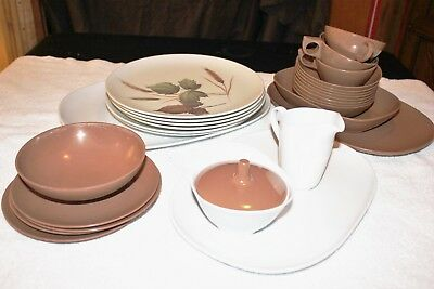 Vintage Melamine/Melmac Texas Ware Fall Dinner Plates Serving Bowls Cups 34 Item : fall dinner plates - Pezcame.Com
