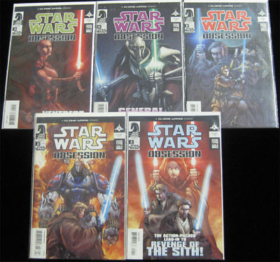 Star Wars Obsession #1 - 5 Set Dark Horse Comics Revenge of the Sith Lot CGC