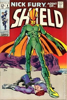 Nick Fury Agent of SHIELD (1st Series) #8 1969 VG Stock Image Low Grade